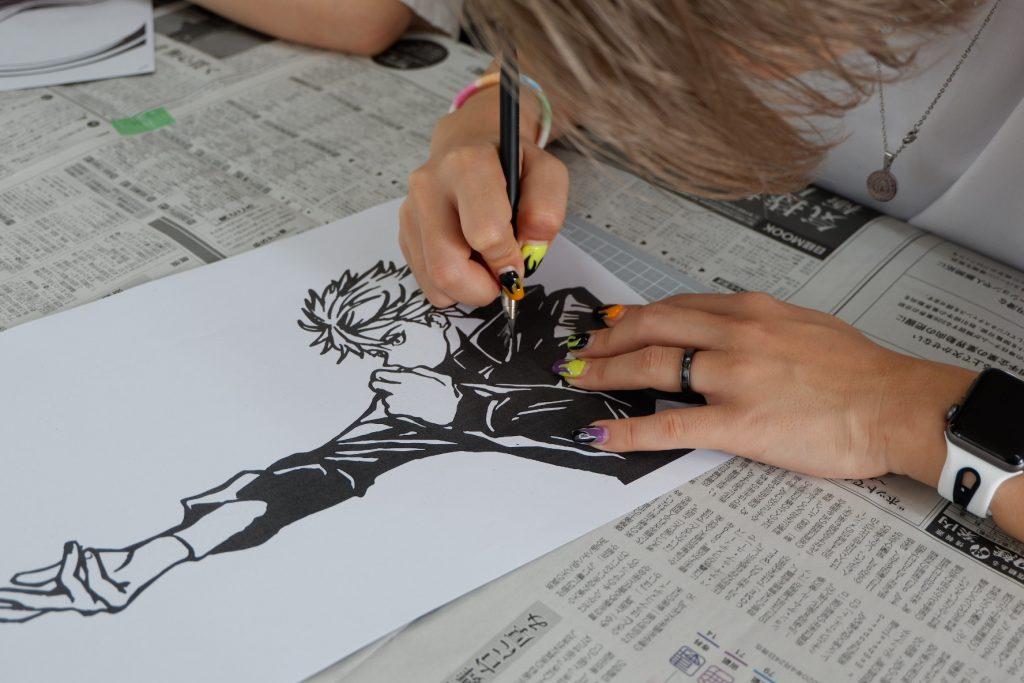 ここのつ舎 アニメキャラクター切り絵 なつやすみ工作あそび教室